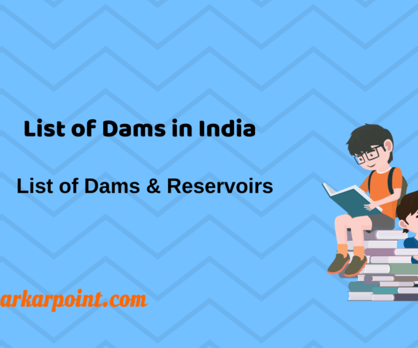 list of dams in india