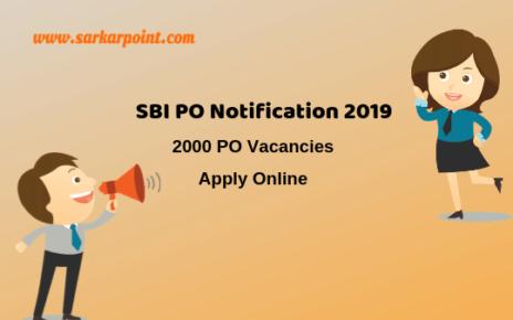 sbi po 2019 apply online