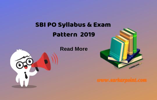 SBI PO Syllabus 2019