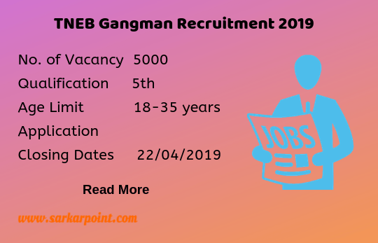 tneb gangman recruitment 2019