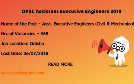 opsc assistant executive engineer 2019