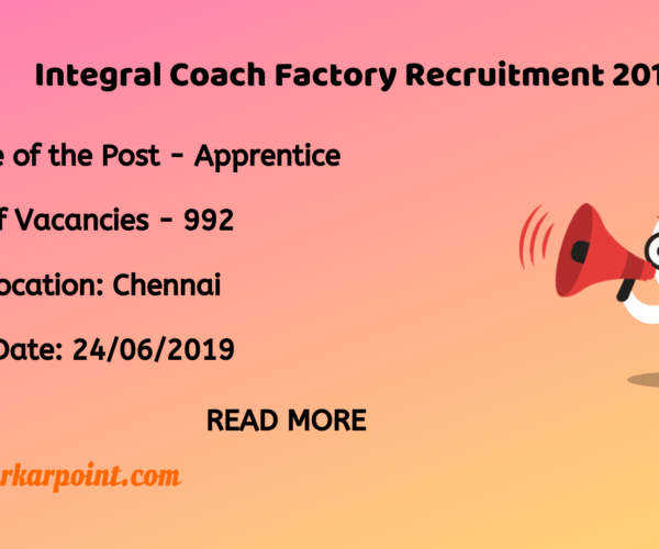 integral coach factory recruitment 2019