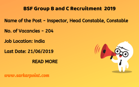 bsf group b and c recruitment 2019