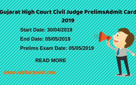 Gujarat High Court Civil Judge Prelims Admit Card
