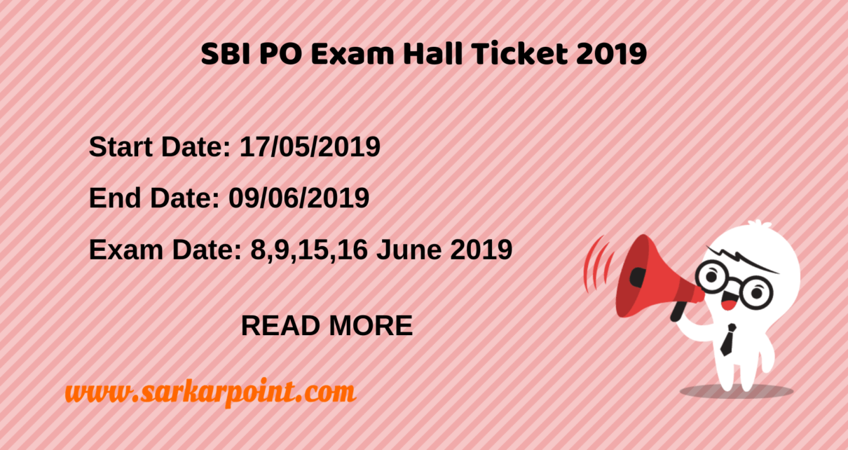 sbi po exam hall ticket 2019