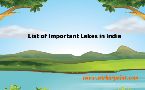 list of important lakes in india