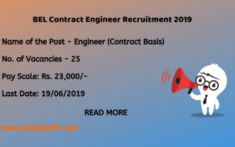 bel contract engineer recruitment 2019