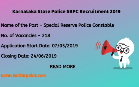 ksp srpc recruitment 2019
