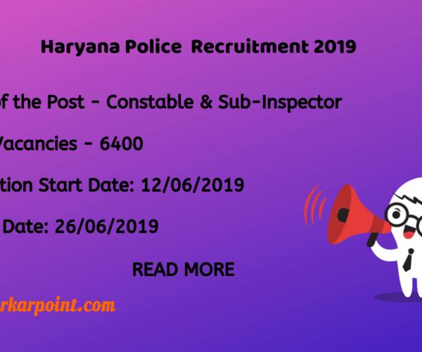 Haryana Constable Recruitment 2019