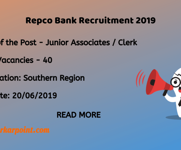 repco bank recruitment 2019