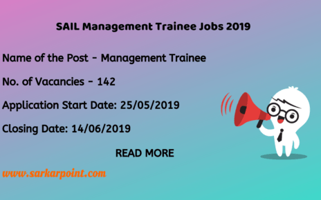 SAIL Management Trainee 2019