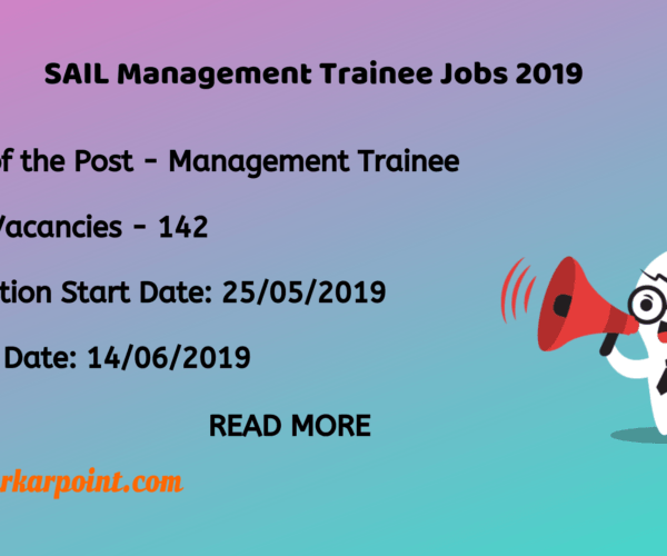 SAIL Management Trainee 2019