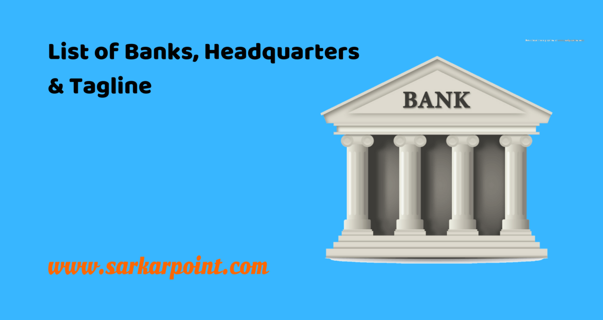 List of Banks Headquarters & Taglines