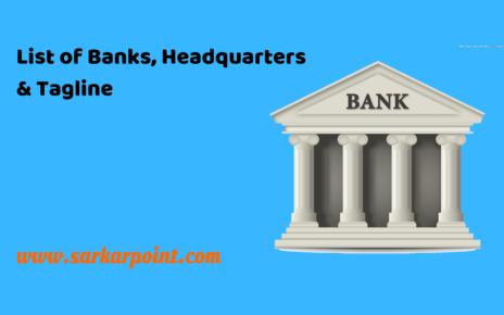 List of Banks Headquarters & Taglines