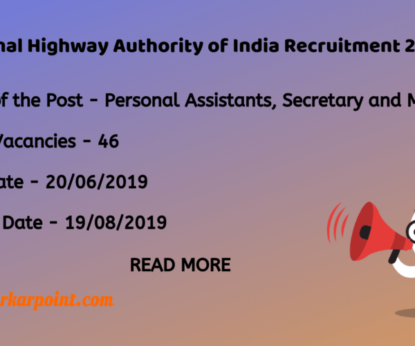 national highway authority of india recruitment