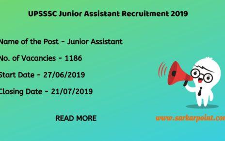 upsssc junior assistant recruitment 2019
