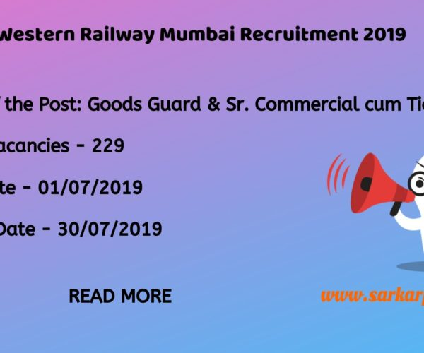western railway mumbai recruitment 2019