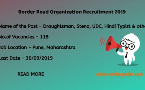 Border Road Organization Recruitment 2019