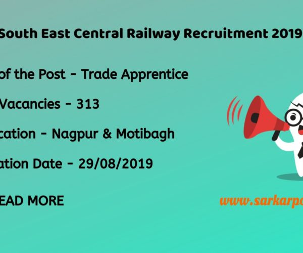 South East Central Railway Trade Apprentice 2019