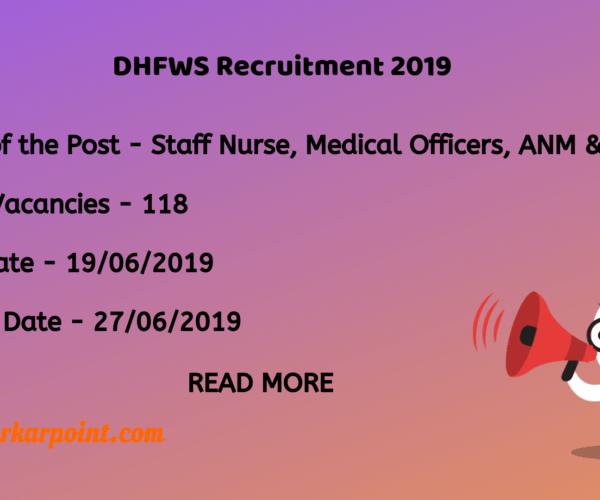 dhfws recruitment 2019