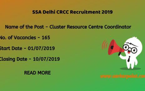 ssa delhi crcc recruitment 2019