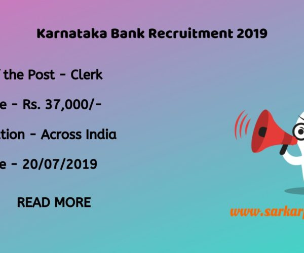 karnataka bank clerk notification 2019