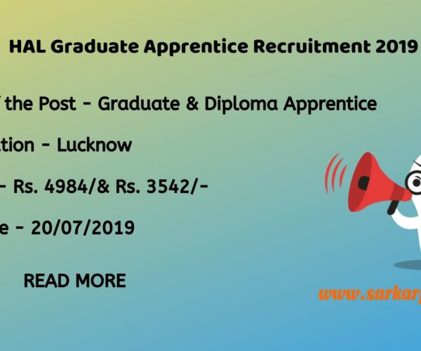 hal graduate apprentice recruitment 2019