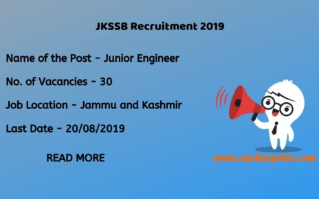 jkssb junior engineer recruitment 2019