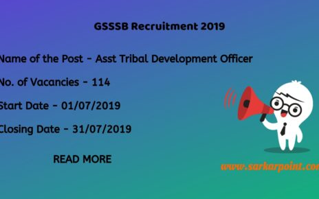 gsssb assistant tribal development officer