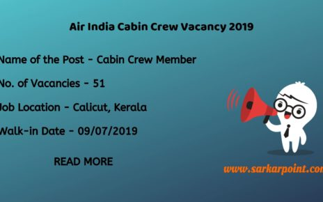Air india cabin crew vacancy 2019