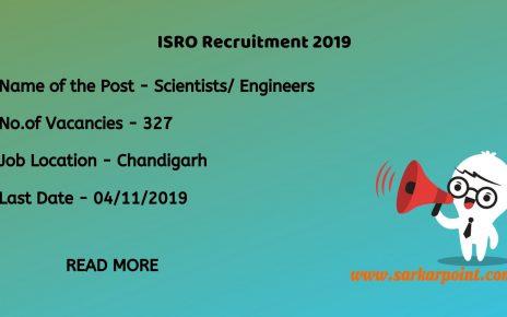 ISRO Recruitment 2019