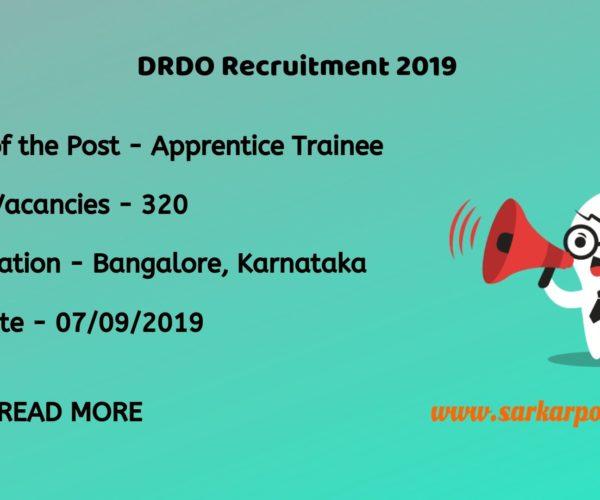 DRDO Graduate Apprentice Trainee 2019
