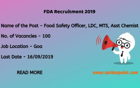 fda goa recruitment 2019