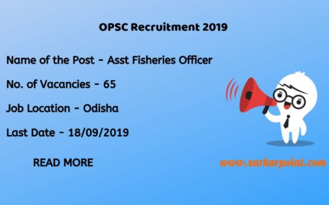opsc assistant fisheries officer recruitment 2019