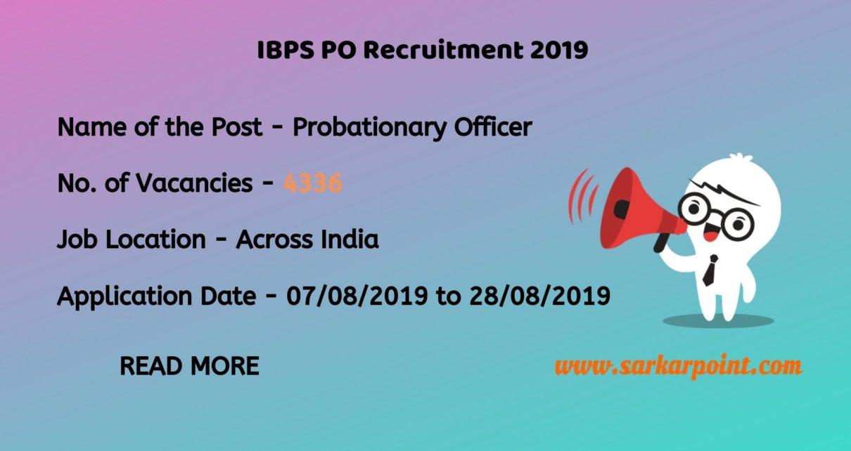 ibps po application form 2019