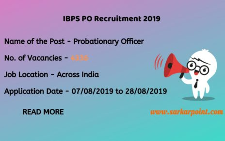 ibps po application form 2019