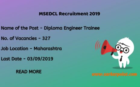 MSEDCL Diploma Engineer Trainee Recruitment 2019
