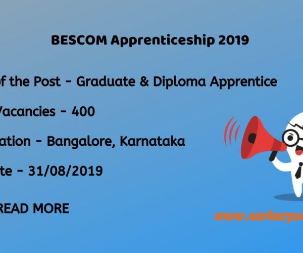 bescom apprenticeship 2019