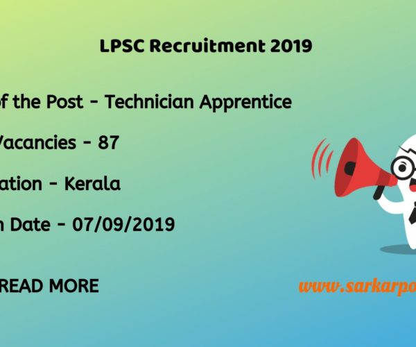 lpsc recruitment 2019