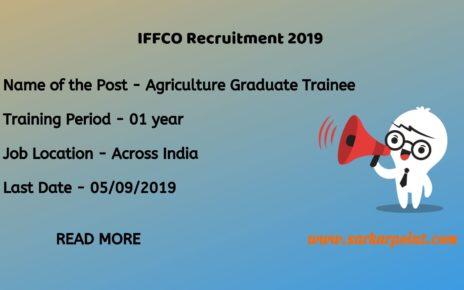 IFFCO Agriculture Graduate Trainee 2019