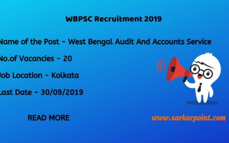 West Bengal Audit And Accounts Service exam 2019