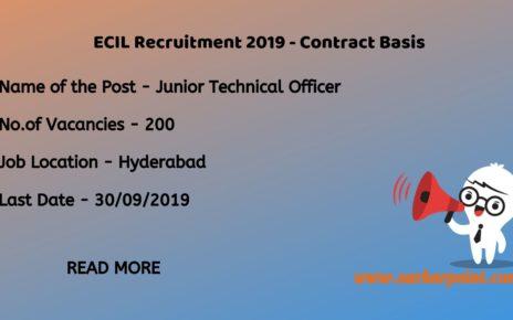 ecil recruitment 2019