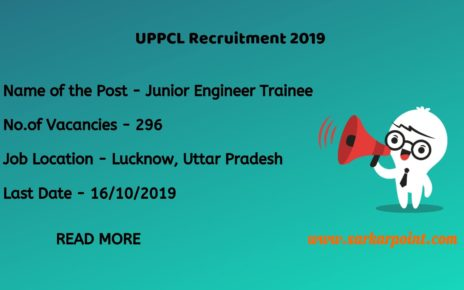 UPPCL Junior Engineer Online Form 2019