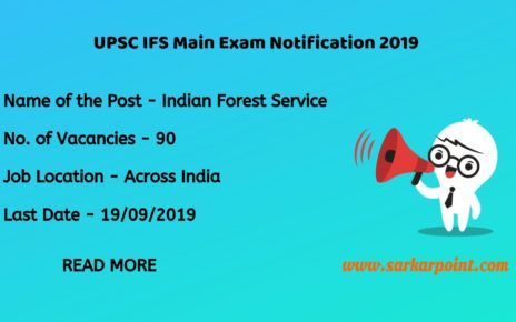 UPSC Indian Forest Service Notification 2019