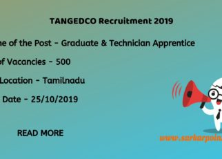 TANGEDCO Apprentice Recruitment 2019