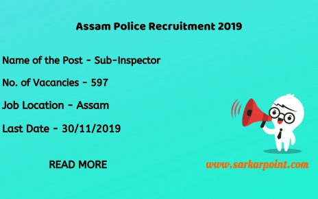SLPRB Assam Police Sub Inspector Recruitment 2019