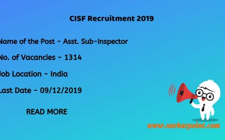 CISF ASI LDCE Recruitment 2019
