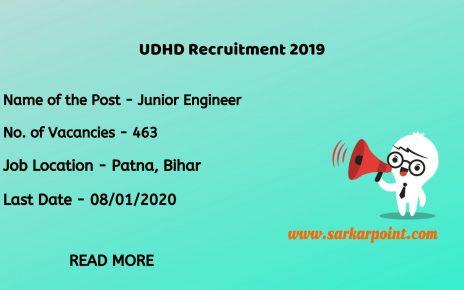 Urban Development and Housing Department Bihar Recruitment 2019