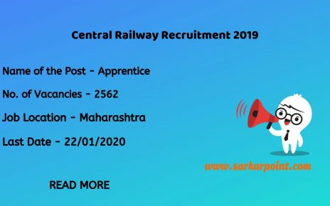 Central Railway Apprentice Recruitment 2020