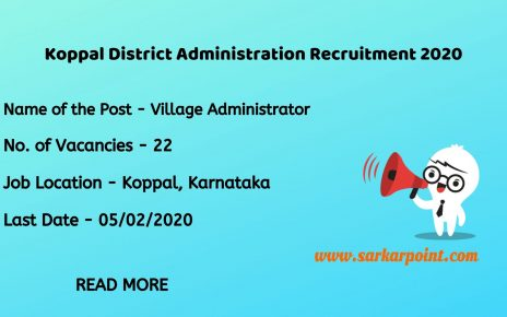 Koppal District Administration Recruitment 2020
